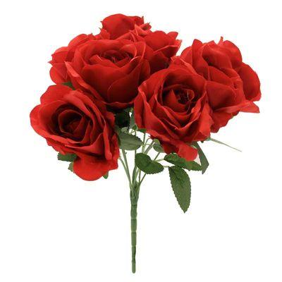 Red Rose Bush x 9 heads