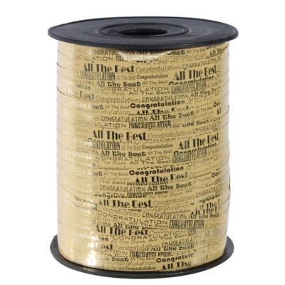 Gold All the Best Curling Ribbon (7mm x 200m)