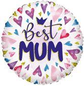 ECO Balloon - Best Mum Hearts (18 Inch)