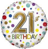 Eco Balloon - Birthday Age 21 (18 Inch)