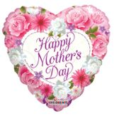 Happy Mothers Day Balloon - Flowers- 18 Inch