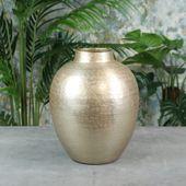 Hampstead Flower Vase Matt Champagne
