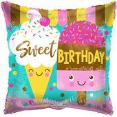 Eco Balloon - Sweet Birthday (18 Inch)