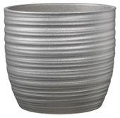 Bergamo Glamour Ceramic Pot Silvermoon (W13 X H12cm)