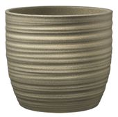 Bergamo Glamour Ceramic Pot Glitter Gold (W14 X H13cm)