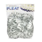 Silver - 50mm Premium Pleat Ribbon 10m